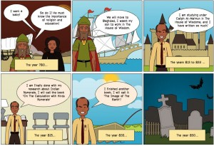 A timeline of the significant events in the scholars life, created on Powtoon.